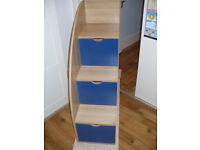 Stairs with storage drawers for children's bunk beds/ mid sleeper. Project/ freestanding storage..