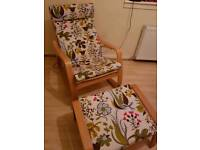 **PRICE REDUCED** Ikea Poang Rocking Chair and Foot Stool