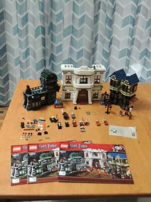 Lego 10217 Harry Potter Diagon Alley 100% complete w/manuals Some decals/sheet