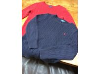 2x Ralph Lauren jumpers blue and red, Great con, size 10-12