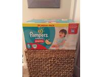 Pampers pull up pants size 5
