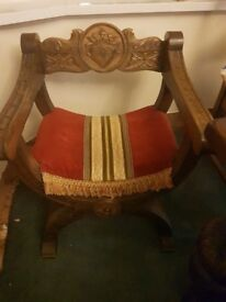 Spanish solid oak chair