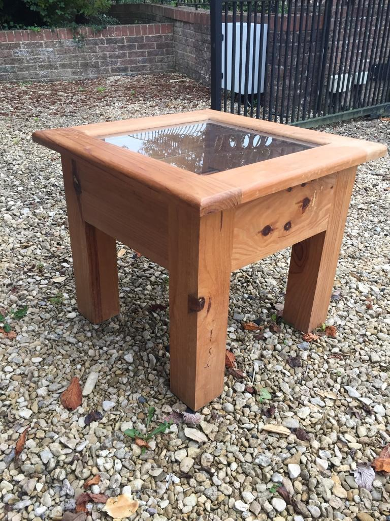 Coffee table side table wooden