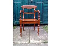Mid Victorian Edinburgh pattern antique chair.