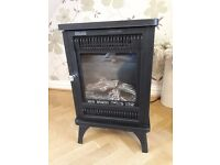 Electric log effect black Stove Fire