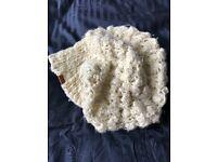 Kangol beanie hat cream knit