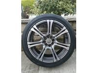 """Momo corse 17"""" alloys with falken tyres. BRAND NEW!"""