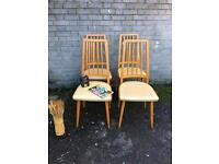 SET VINTAGE CHAIRS 1960-1970s FREE DELIVERY RETRO VINTAGE MIDCENTURY