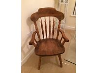 6 HeavyWooden Dining Chairs- 2 are Carvers