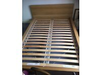 IKEA wooden double bed frame