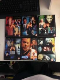24 American TV series show volumes 1-6 complete Boxset DVD film crime drama