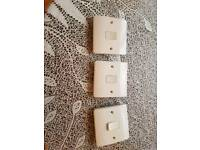 3 front plates for light switches