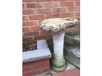 Ornamental stone bird bath