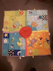 Brightly coloured animal large play mat