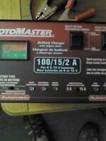 MotoMaster 12/2A Automatic Battery Charger with 75A Engine
