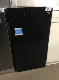 Beko DFS05010B Slimline 10 Place Freestanding Dishwasher Black