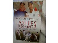 Books Aston Villa 1995 & cricket books, Ashes, painting. Excellent condition for Christmas gifts