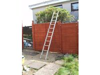 Aluminium ladder. 10 ft.long x 13ins wide. In v.good condition.
