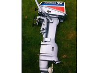 Immaculate 1982 Evinrude 7.5hp 2 stroke long shaft outboard like new!