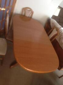 6 seat extending dining room table. See pictures