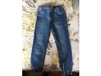 Girls river island jeans x 3
