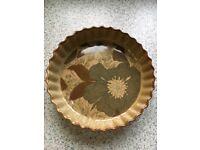 2 x Stoneware Flan Dishes & Pyrex Dish