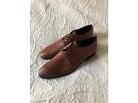 Brand new Poste tan shoes