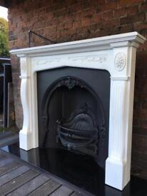 DEL 25 max most uk cast iron fireplace and surround