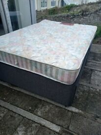 Double bed bass and mattress