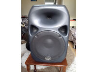 Wharfedale Pro Titan 12 active speakers and Heavy duty winch speaker stands