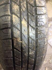 Goodyear 255/65/17 part worn tyre