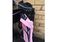 Child's pink golf bag