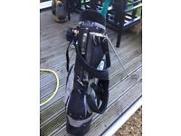 Golf bag and clubs right handed