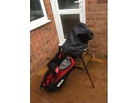 Wilson Golf clubs and carry bag