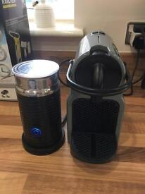 Nesspresso machine and milk frother