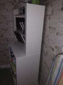 Children's white IKEA book case