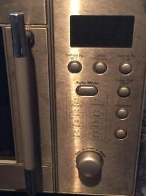 Stainless steel Microwave in Good Working Condition