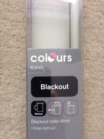 Roller blind - still boxed. Cream colour, blackout