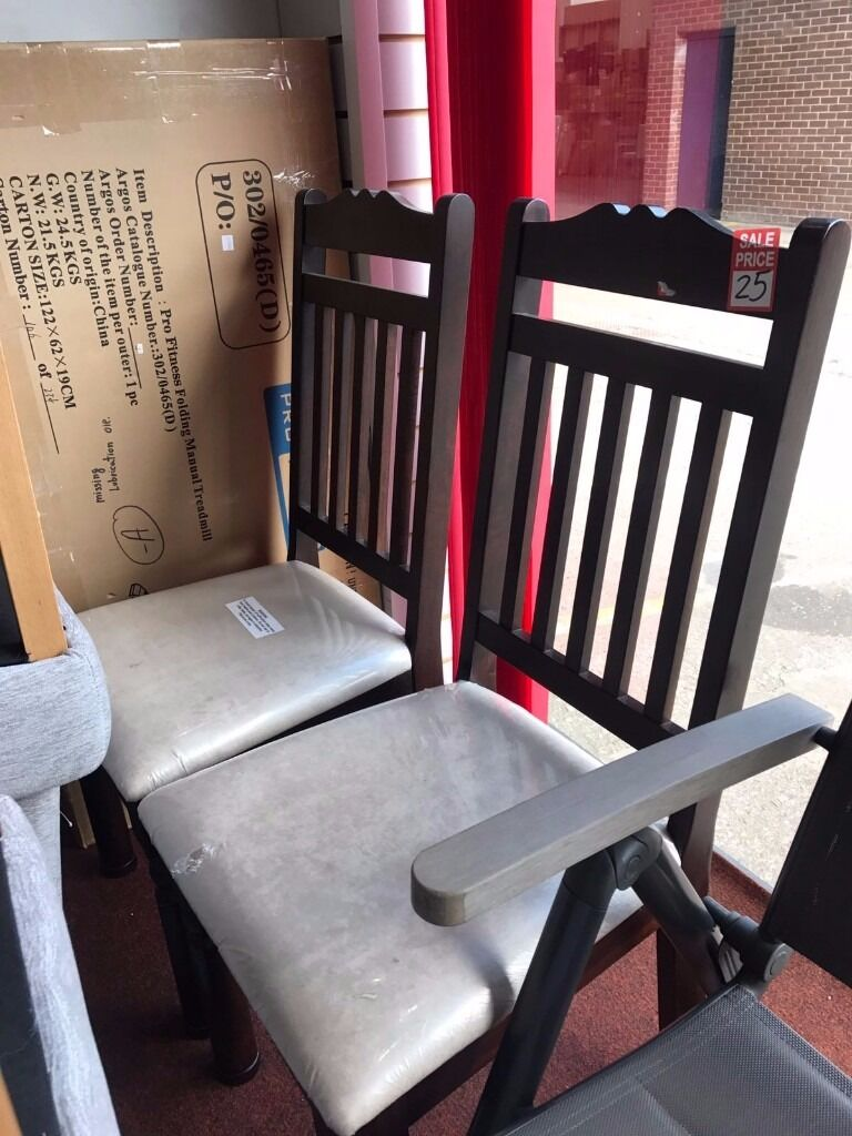 Chairs, price for 2 chairsin Aston, West MidlandsGumtree - Chairs, price for 2 chairs Item is Ex Display, what mean that might have visual marks or damaged Dismantled, without the box Come to view it first Sold as seen. Can deliver for extra charge