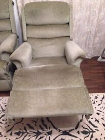 2 Seater Sofa and 2 comfy recliners/armchairs