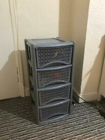 Large set of plastic drawers
