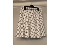 White and Black Top and Skirt set Girls'