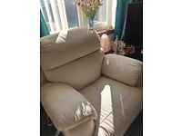 Reclining chair and large sofa both electric