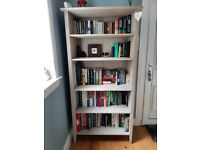 Washed Creamy Grey Wooden Bookcase
