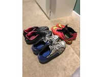 3 pairs of football trainers for sale all very good condition