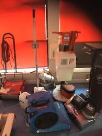 Carpet cleaning equipment.