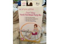 New - Hands Free Breast Pump Bra - black (simple wishes)