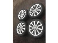 Genuine vw golf Audi alloys and tyres wheels