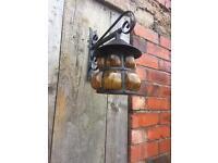 Old cast iron metal lantern light
