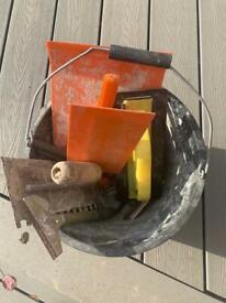 Bucket of Tiling Tools